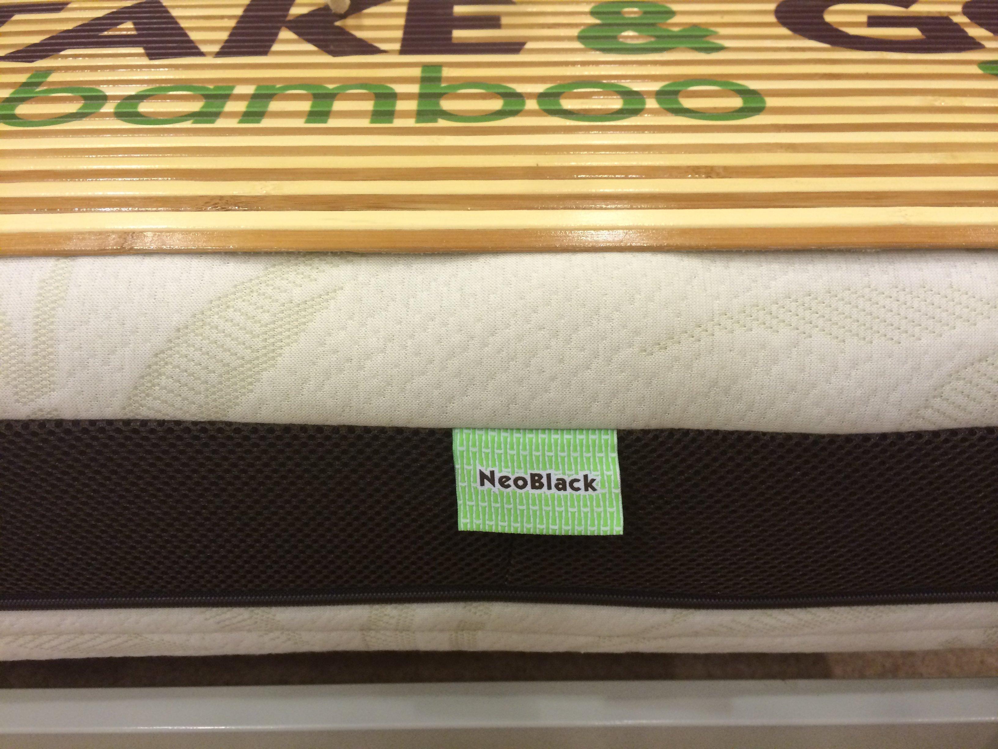 Ортопедический матрас NeoBlack Take Go bamboo. Фото 4