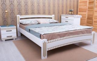 Кровать Милана Люкс с фрезеровкой Аурель (Олимп)