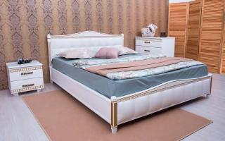Кровать Прованс Мягкая спинка квадраты Аурель (Олимп)