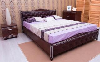 Кровать Прованс Мягкая спинка ромбы Аурель (Олимп)